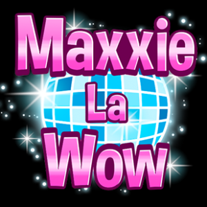 Maxxie LaWow stylized text over a disco ball